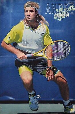 ANDRE AGASSI - A3 Poster (ca. 42 x 28 cm) - Tennis Clippings Fan Sammlung NEU