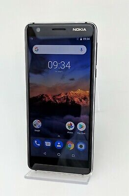 Nokia 3.1 TA-1049 16GB Black Unlocked Android Smartphone Excellent Shape