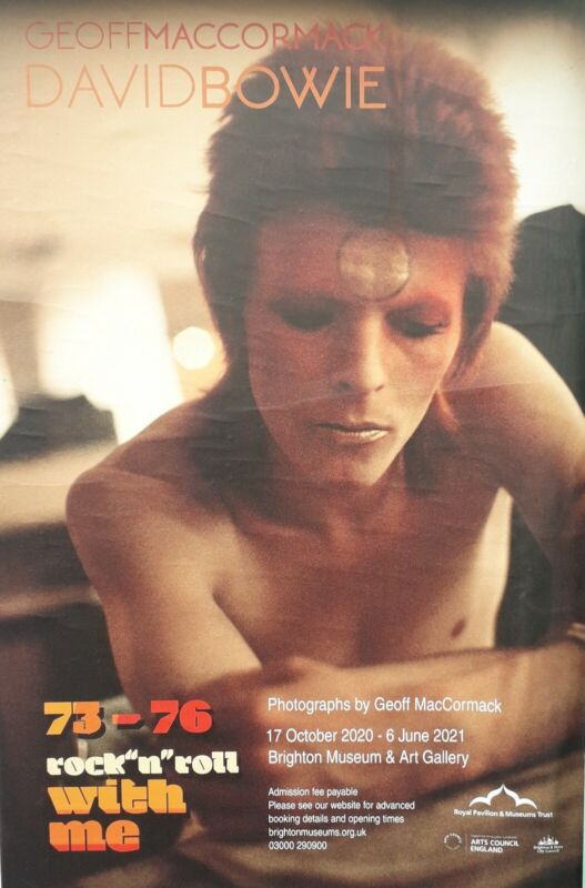 """David Bowie Exhibition Poster GEOFF MACCORMACK """"Rock n Roll with Me 1973 - 1976"""""""