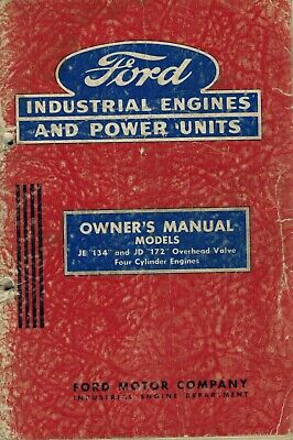 Ford Je134 Jd172 Four Cylinder Engines Owners Manual