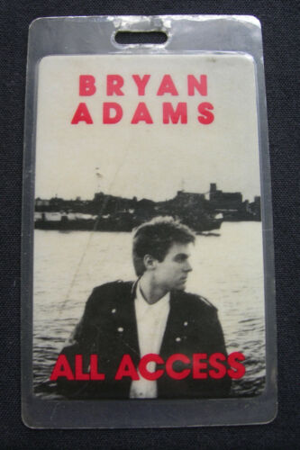 BRYAN ADAMS ACCESS ALL AREAS BACKSTAGE PASS 1987 INTO THE FIRE READ DESCRIPTION