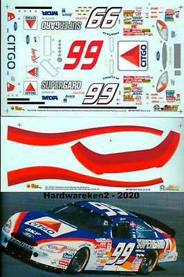 NASCAR DECAL #99  CITGO 2001 FORD TAURUS JEFF BURTON SLIXX