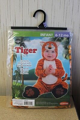 NEW TIGER GIRLS BOYS KIDS SIZE 0-6 MONTHS HALLOWEEN COSTUME OUTFIT BODYSUIT - Boys Tiger Costume