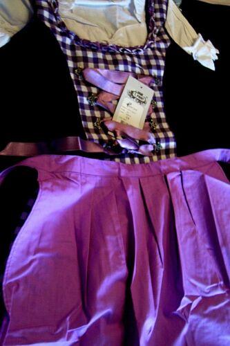 NEW! Girls,Kids,US sz 1T,Germany,Trachten,Oktoberfest,Dirndl Dress,Purple.3-pc.