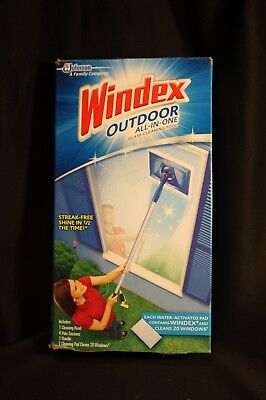 Windex Outdoor All-In-One Glass Cleaning Tool - Starter Kit - Cleans 20 Windows