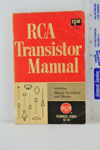 RCA Transistor Manual SC-10, 1962, Paperback, Acceptable, Ex-Library