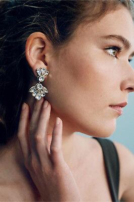 BHLDN QUINN DROP DANGLE EARRINGS CRYSTAL DEEPA GURNANI POST EVENING BRIDAL - Crystal Post Dangle Earrings
