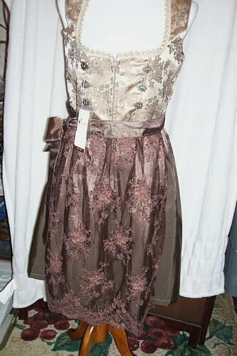 NEW!Sz 12.NEW!Germany,Oktoberfest,Dirndl Dress,Browns,ALTE LIEBE,FREE Blouse