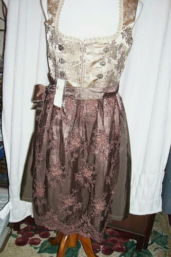 NEW! US Sz 8.NEW!Germany,Oktoberfest,Dirndl Dress,Browns,ALTE LIEBE,FREE Blouse