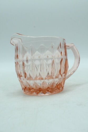 Jeannette Windsor Diamond Pink 8 Ounce Creamer Depression Glass
