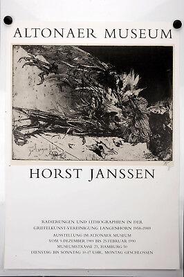 """Plakat, Horst Janssen """"Altonaer Museum"""" Signiert Vintage Poster, Affiche Ancies"""