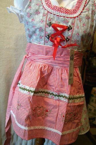 Girls,Kids,US sz 10,Germany,German,Trachten,Oktoberfest,Dirndl Dress,3-pc.Reds,