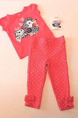 Gymboree Best In Show Dog Shirt & Pants Outfit Infant Baby Girl 12-18