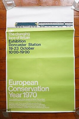 Original 1970 European Conservation Inter City 125 Railway Poster Doncaster Stn