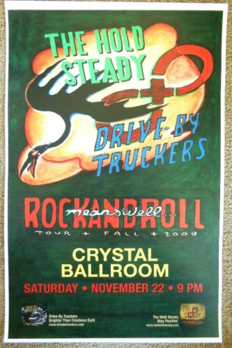 HOLD STEADY & DRIVE-BY TRUCKERS 2008 Gig POSTER Portland Oregon Concert