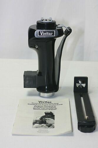 Vintage Vivitar Flash Holder Pistol Grip Bracket w/Quick Release Mount & Strap