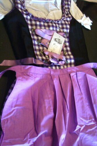 Girls,Kids,US sz 12,Germany,German,Trachten,Oktoberfest,Dirndl Dress,3-pc.Purple