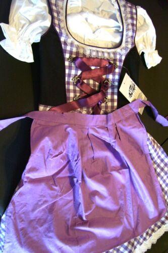 Girls,Kids,US sz 11.Germany,German,Trachten,Dirndl Dress,3-pc.Purple,Bl