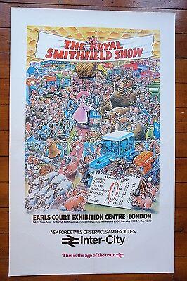 1982 The Royal Smithfield Show Inter City Original Railway Travel Poster