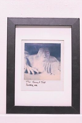 The Fremont Troll, original Polaroid.  Framed art piece 5x7