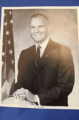 John H. Glenn - NASA Astronaut Vintage Black and White Portrait Photo