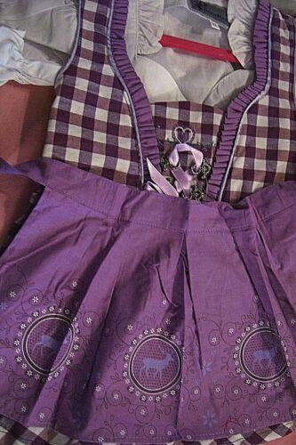 NEW!Girls,Kids,US sz-2T,Germany,Trachten,Oktoberfest,Dirndl Dress,Purple.3-pc.
