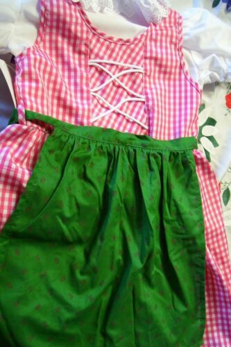 New! Girls,Kids,US sz 10,Red..Germany,German,Oktoberfest,Dirndl Dress,3-pc.