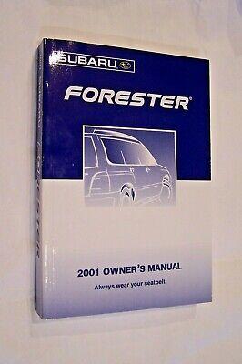 2001 subaru forester owners manual new original Subaru Forester Owners Manual