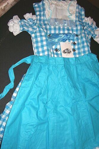 Girls,Kids US,sz 6,Germany,German,Trachten,Dirndl Dress,2-pc.Blue B-Ware