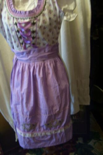 Girls,Kids,US sz 8,Germany,Trachten,Oktoberfest,Dirndl Dress,3-pc.Purples,Beige