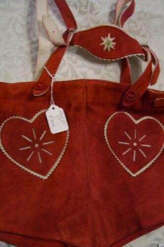 Boy, Girl sz 3T,Germany,Trachten,Ledehosen w.Suspenders.Oktoberfest.Red,Heart