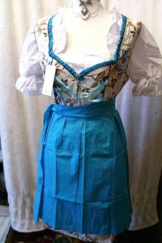 US Sz 14.NEW!Germany,German,Trachten,Oktoberfest,Dirndl Dress,Blue,Browns
