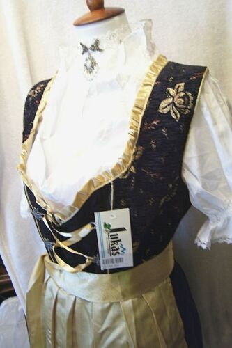 NEW!US Sz 16 Germany,German,Trachten,Dirndl,Oktoberfest,3-pc.Black,Gold..
