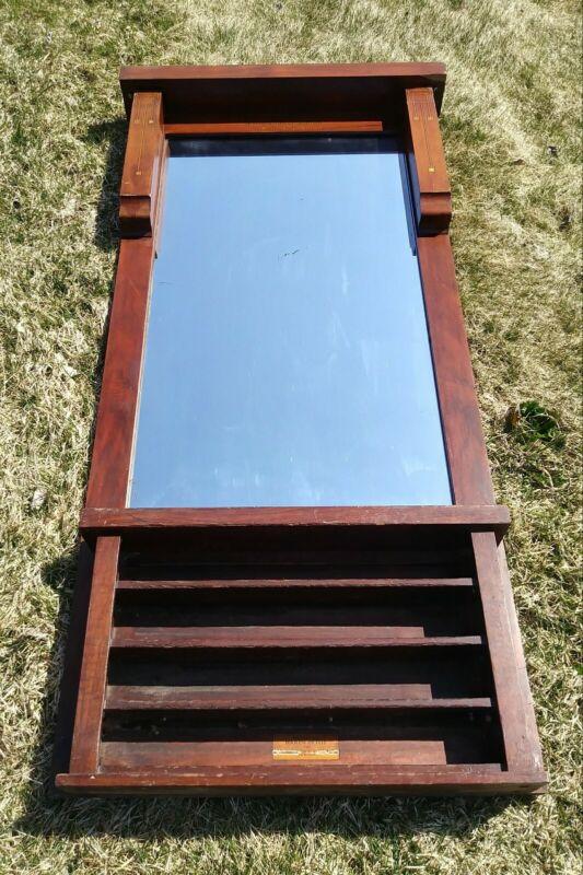 Rare Antique Brunswick Balke Collender Billiard Pool Ball Rack With Mirror