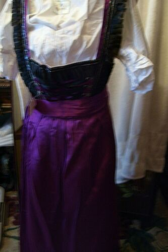 US Sz 6.NEW!Germany,German,Trachten,Oktoberfest,Dirndl Dress,3-pc,Plum,Black