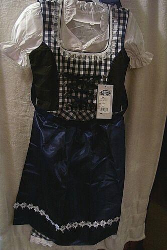 Girls,Kids,sz 11,Germany,German,Trachten,May,Oktoberfest,Dirndl Dress,3-pc.Blue
