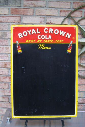 1940s Royal Crown RC Cola Embossed Menu Board, BEST BY TASTE