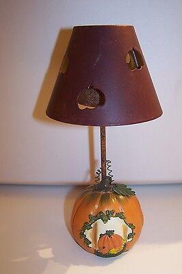 Pumpkin Mini Lamp Tealite holder With Metal Shade