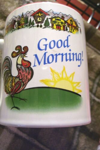 NEW! ROOSTER,Germany Guten Morgen-Good Morning,Ceramic,COFFEE Cup,Tasse
