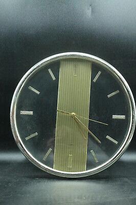 Sunbeam Quartz Gold Tone Clear Analog Wall Clock