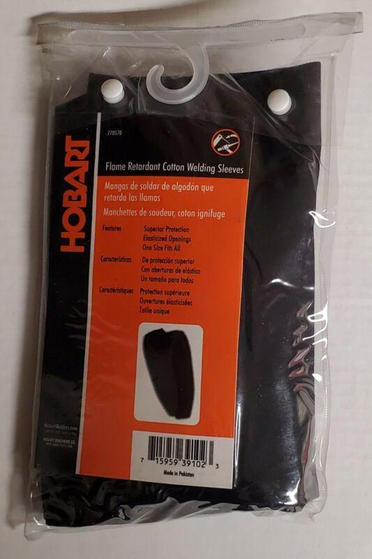 Hobart Black Welding Sleeves Flame Retardant Cotton #770570 New!