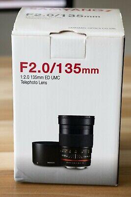 Samyang 135mm F2.0 ED UMC Lens for Sony E-Mount(Mint)
