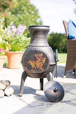La Hacienda 100% Cast Iron Chiminea Chimenea Patio Heater Wood Burner
