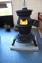 POT BELLY STOVE, WOOD HEATER, CAST IRON. ONLY 6 MONTHS OLD. Northcote Darebin Area Preview