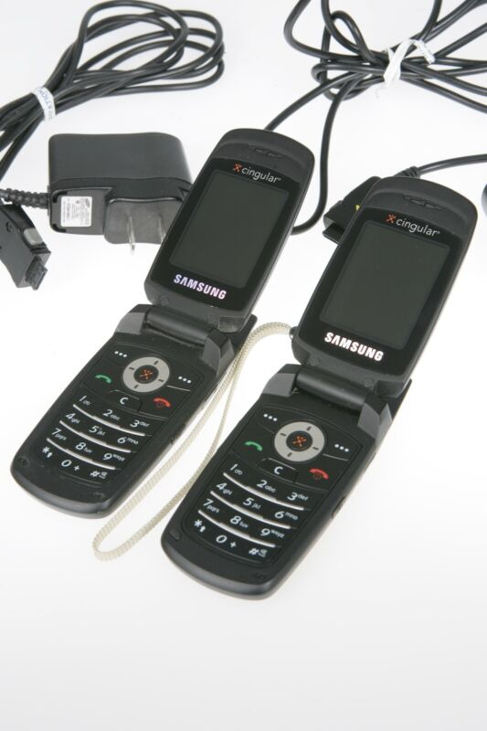 2 Samsung Cingular Sgh C471 Cell Flip Phones Quadband Clean Ebay