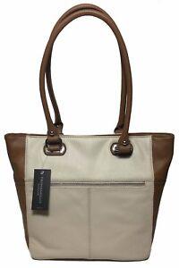 NWT Tignanello Perfect Pockets Medium Tote, Sand/Cognac, T67020A, MSRP: $149.00