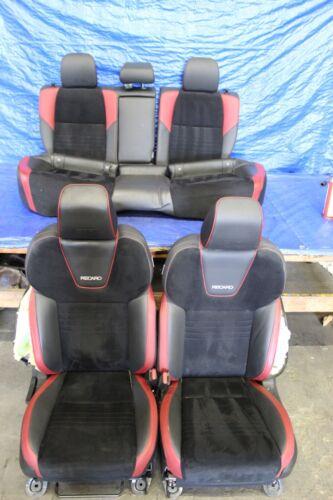 2018 Subaru Impreza Wrx Sti Sedan Oem Recaro Leather Suede Seat Set Damage 2432 Ebay