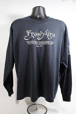 Vintage 1992 MANNHEIM STEAMROLLER Fresh Aire Tour Long Sleeve Shirt Size XL image