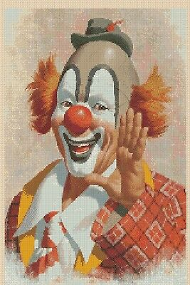 Happy Clown Counted Cross Stitch Chart  No. 3-4