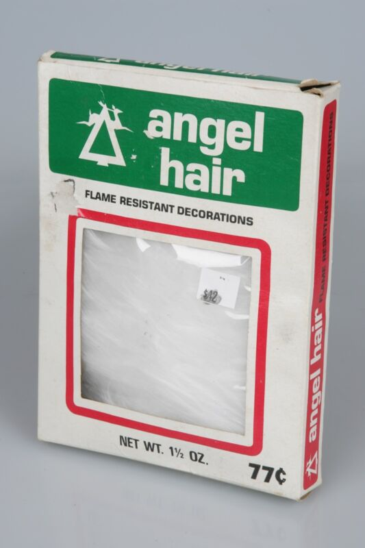 Details about Vintage Christmas Angel Hair SPUN GLASS 1 5 oz Box National  Tinsel NEW OLD STOCK